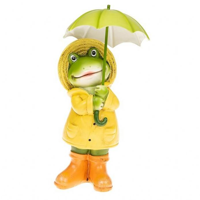 Small Puddle Boy Frog, Standing Figurine